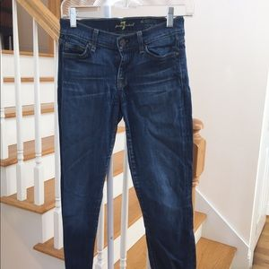 7 For All Mankind Skinny crop & roll